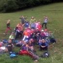 Mlajša skupina na planini pod Golbovcem